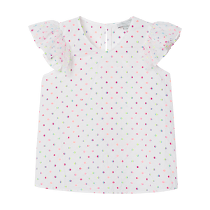 Stella McCartney Embroidered Dots Tulle Top Front