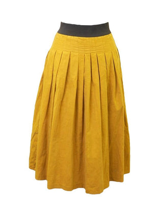 Miss Rabbit Corduroy Pleated Skirt