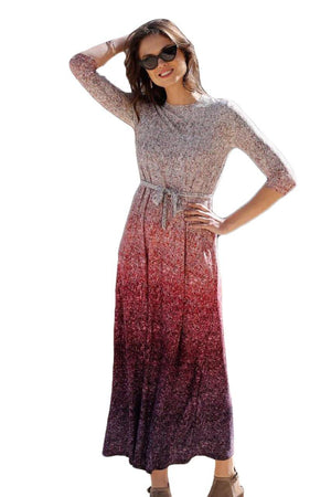 Daniella Faye Sequin Maxi Dress