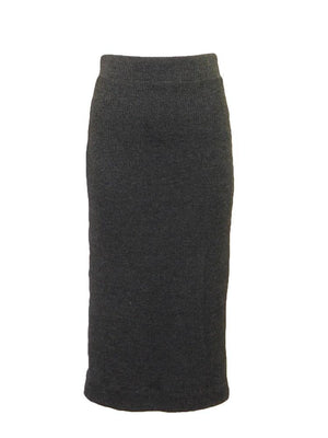 Ginger Knit Skirt Charcoal