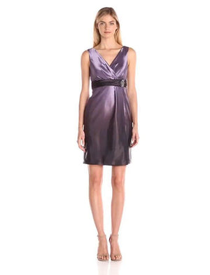 Mikael Aghal Purple Ombre Dress