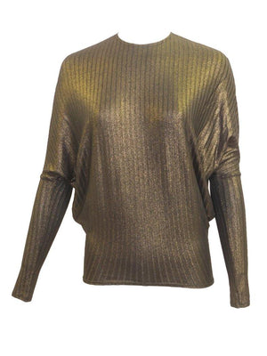 Vivid Metallic Dolman Top