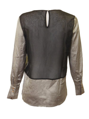Tracy M Shimmery Mesh Blouse