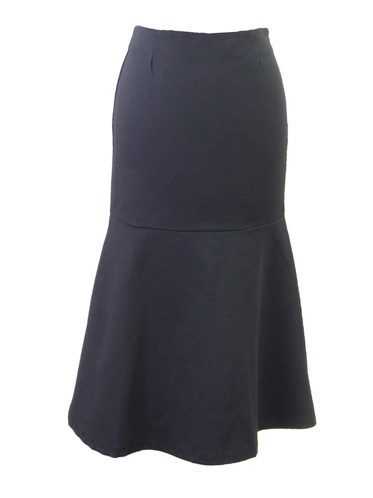 Olivaceous Fishtail A-Line Skirt