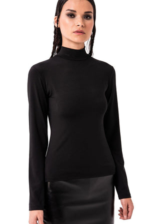 Kiki Riki Mock Neck Long Sleeve Top