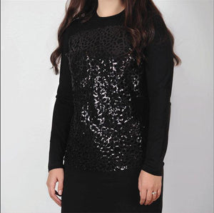 Euro Design Sequin Front Top