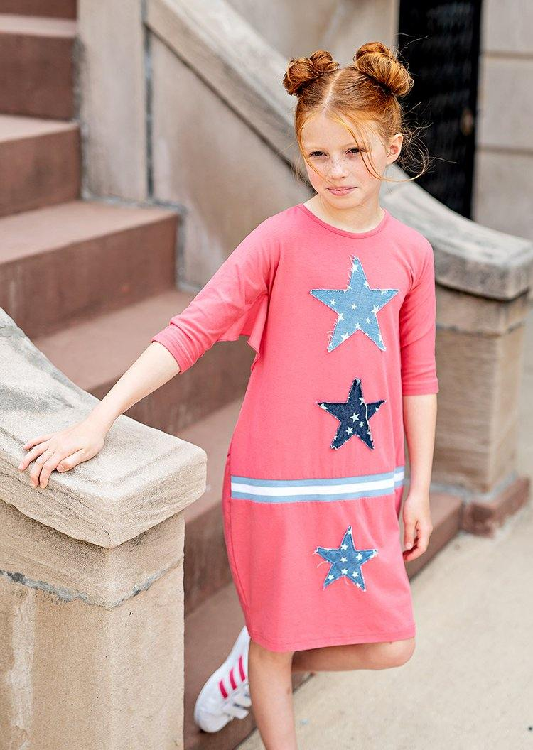 Teela Star Patch Dress