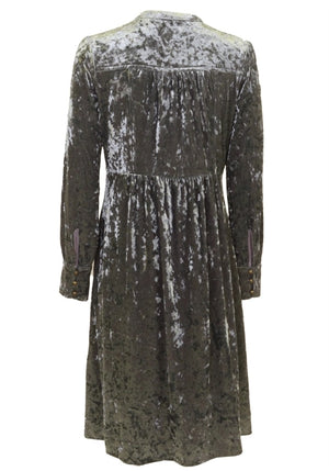 Herrmos Crushed Velvet Dress