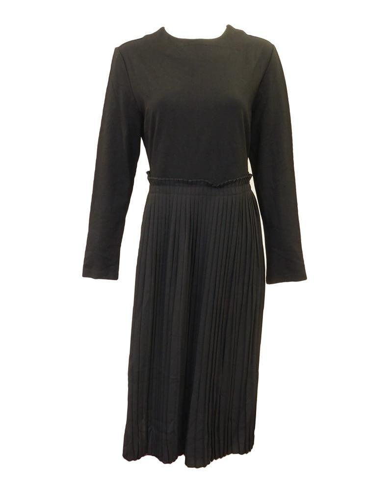 Caroline Beaugard Black Pleated Dress