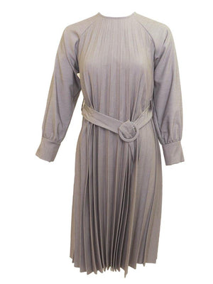 Miss Issippi Silver Pleated Dress