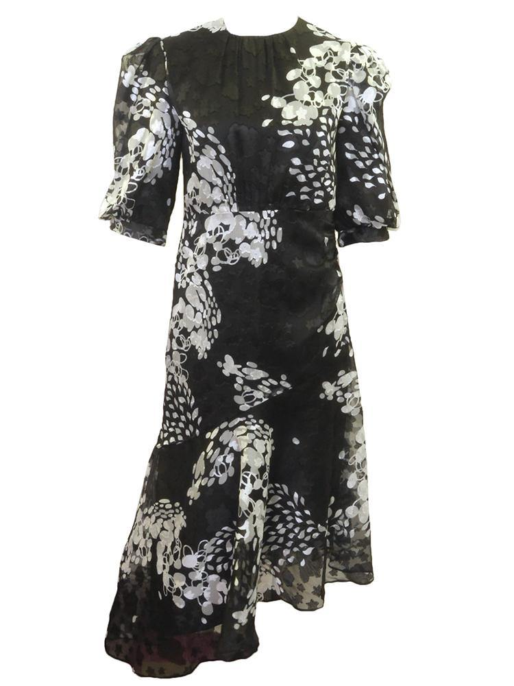 Leah RBI B&W Leaf Dress