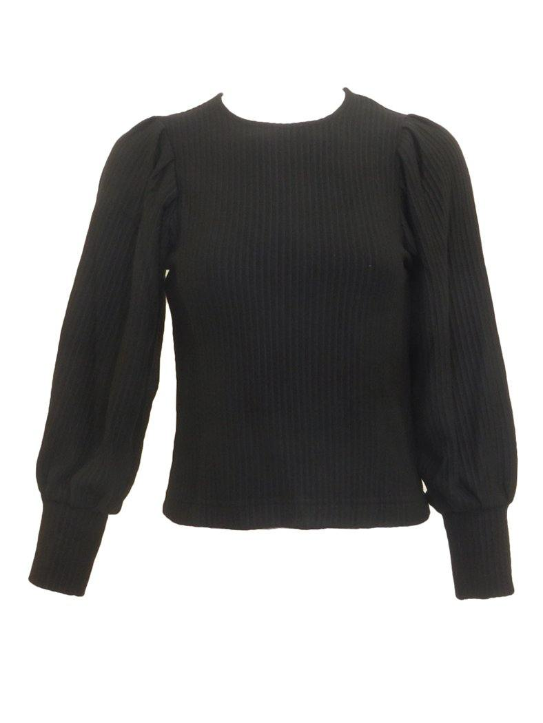 Miss Issippi Ribbed Bubble Sleeve Sweater