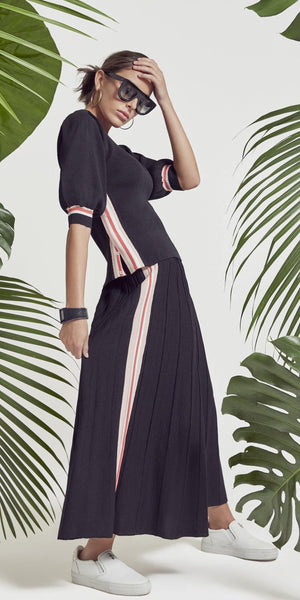 Modivea Knit Stripe Maxi Skirt
