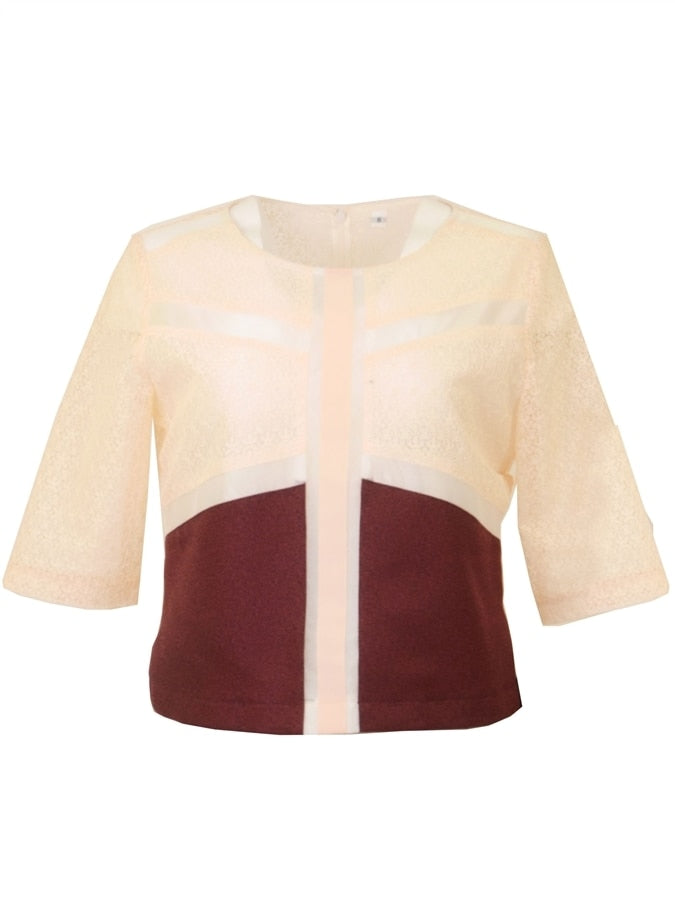 Sarelle Patchwork Lace Top