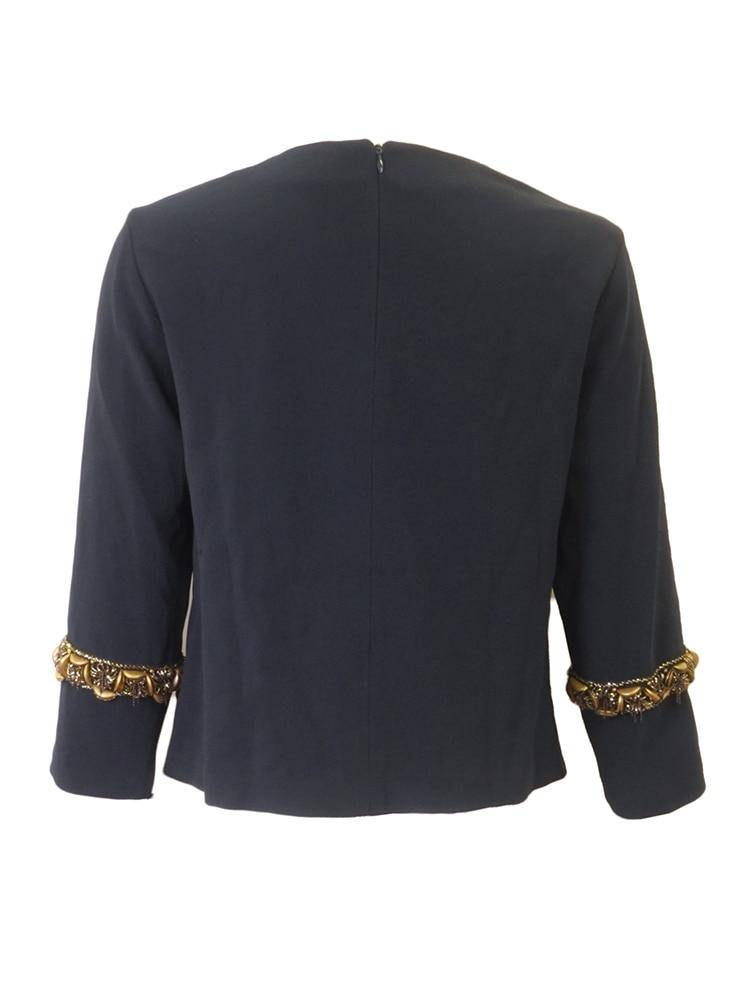 Worth New York Navy Chain Top