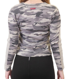 Hardtail Camo Silver Stripe Top CAMR-06