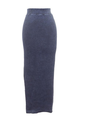 Hardtail Long Ribbed Pencil Skirt