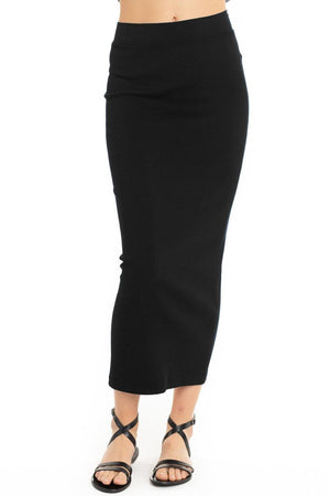 Hardtail Long Ribbed Pencil Skirt CS-109