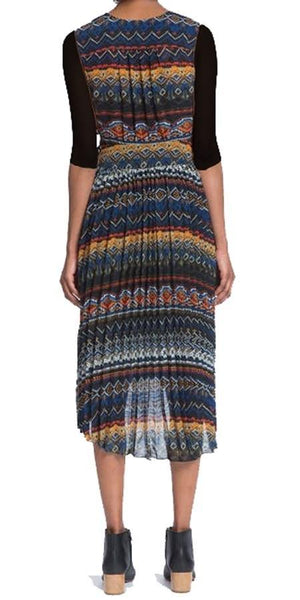 Tracy Reese Fair Isle Pleated Midi