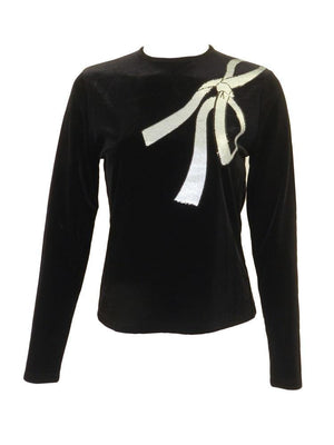 Jerry Couture Velvet Bow Top