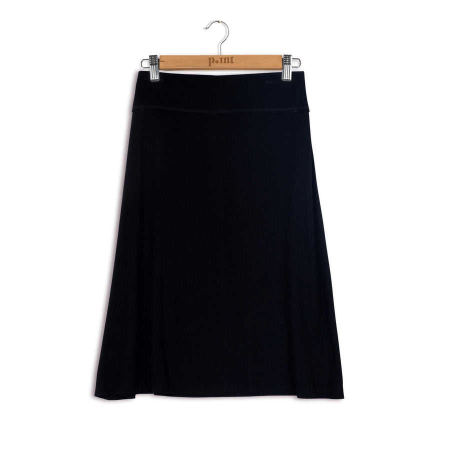 Point Ribbed Band A-line Skirt