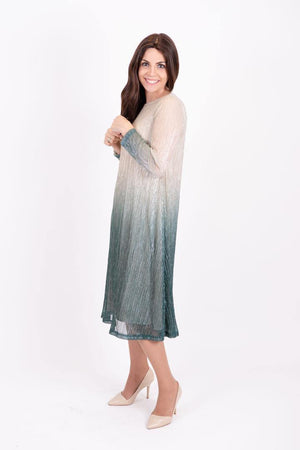 KMW Pleated Ombre Tunic Dress