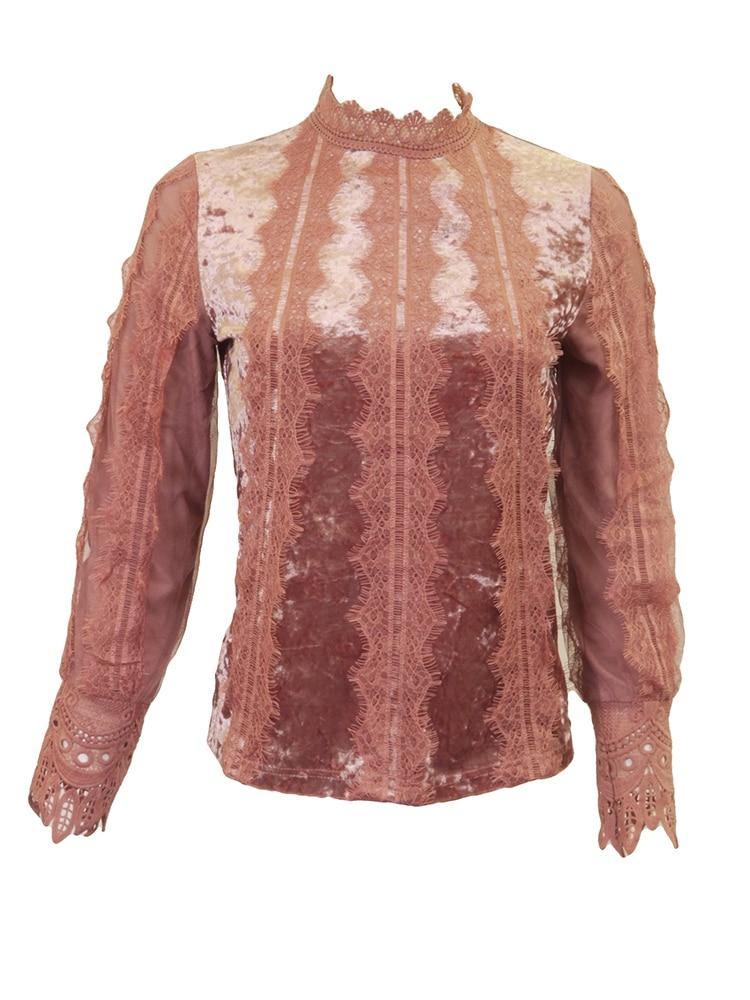 La Spezia Velour Lace Top