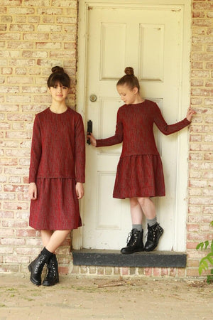 Twelve Junior Red and Gray Dress