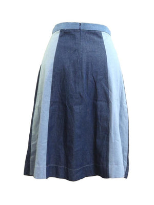 Luella Couture Shades of Denim Skirt
