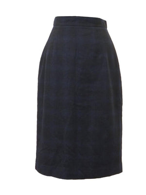 Impact Ink Blue Plaid Aline Skirt