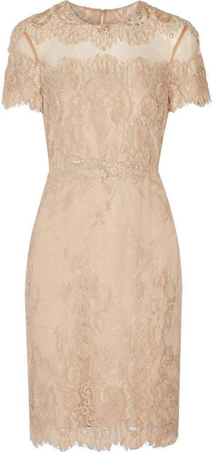 Mikael Aghal Nude Lace Dress