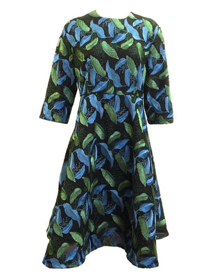 Muse Leaf Embroidered Dress Front
