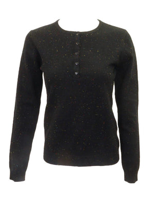 Meli Henley Speckled Sweater