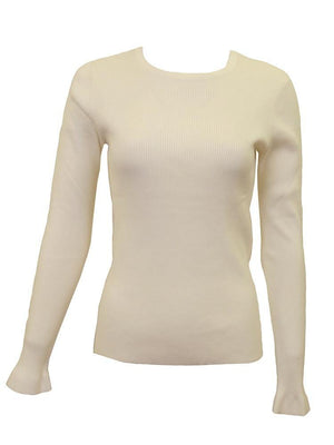 Meli Basic Cream Sweater