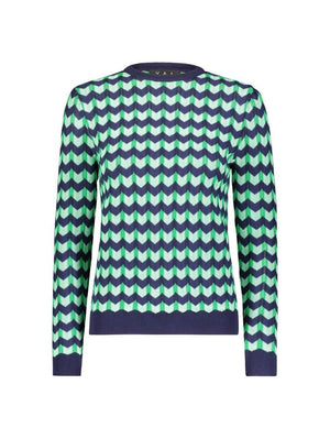 Yal Chevron Printed Top