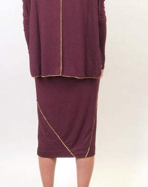 Mikah Etsu Skirt Wine Back