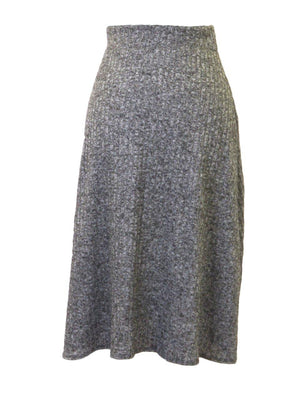 Objex Grey Knit Skirt