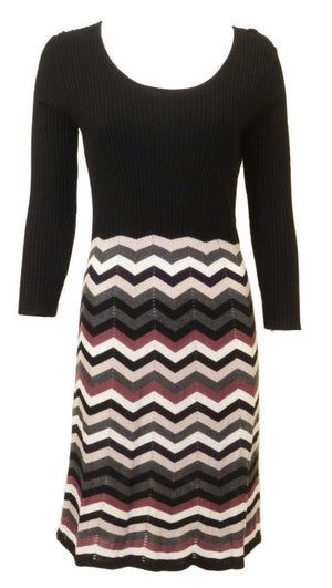 Design History Knit Chevron Dress