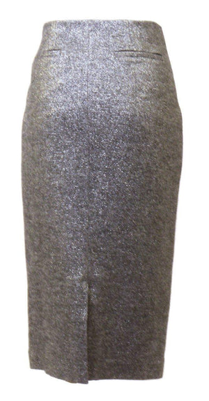 Magaschoni Silver Wool Skirt
