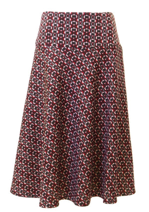 Reverse Patterned Bordeaux Skirt