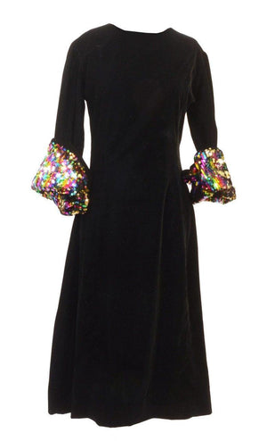 Yiska Velvet Sequin Dress