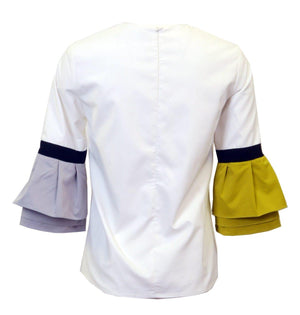 Micacara Color Block Sleeve Top