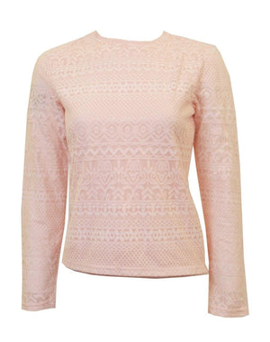 Miss Finch Lace Pink Top
