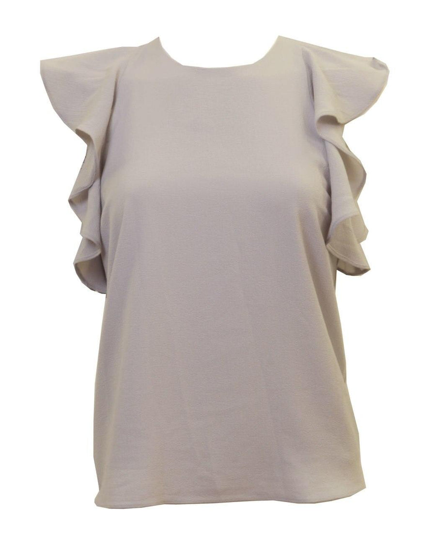 Olivaceous Dove Flutter Sleeve Top