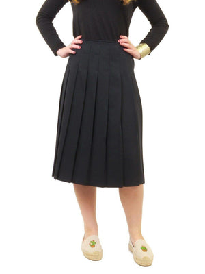 Miz Wear Pleated Knee Length Skirt