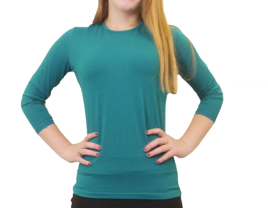 24/7 Three Quarter Sleeve Fitted T-Shirt
