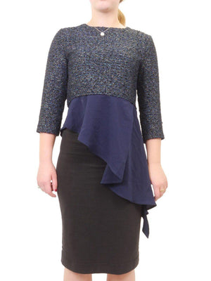 Olly + Elizabeth Navy Top