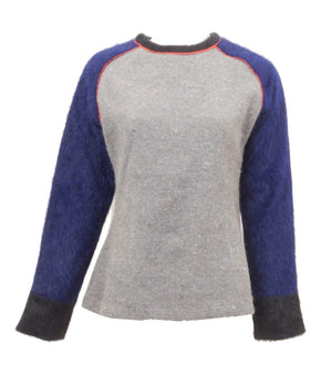 Micacara Navy/Grey Fur sweater