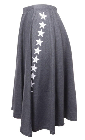 So Nikki Charcoal Star Skirt