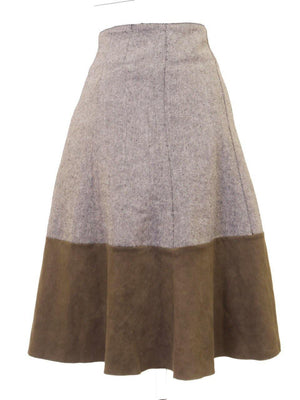 Monte Carlo Tweed Suede Skirt